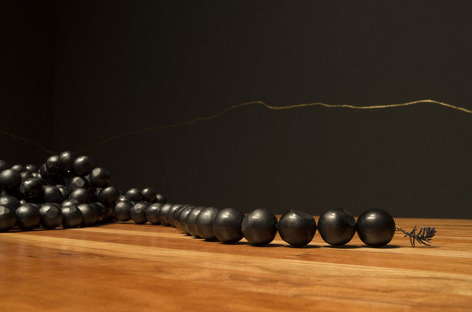 UICA, 2014. Caroline Gore, ...Mercurial Silence..., installation view.