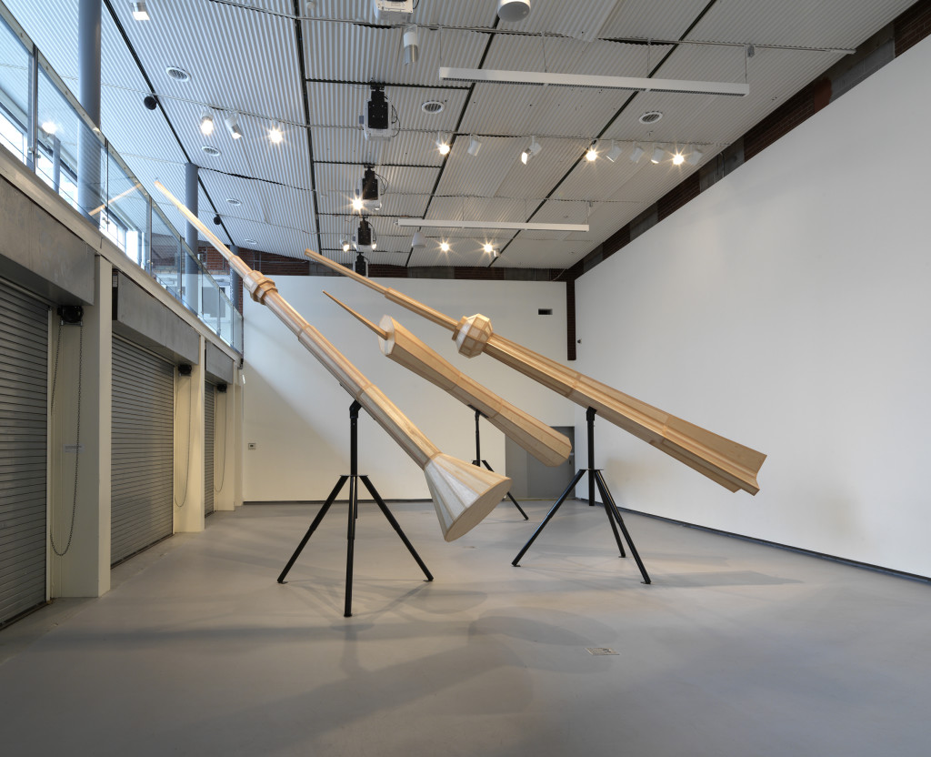 Susan Giles, Scenic Overlook, 2015, installation view south, Hyde Park Art Center. Photo by Tom Van Eynde.