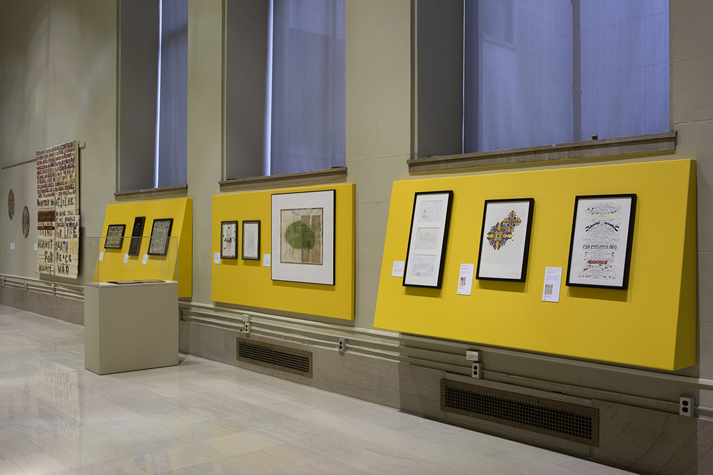 View of the second floor gallery. Courtesy of the Free Library of Philadelphia.