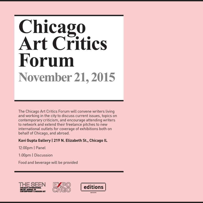 Chicago Art Critics Forum Invitation