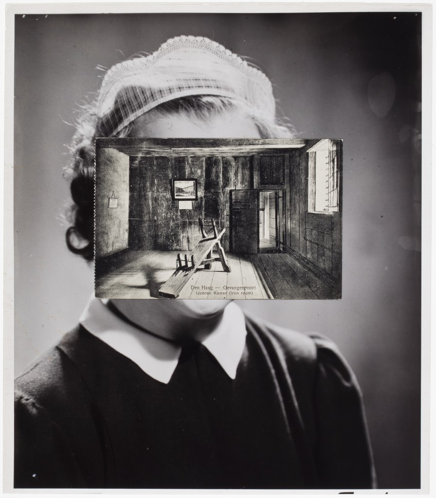 JOHN STEZAKER (b. 1949), Mask (Film Portrait Collage) CLXXXVI, 2015. Collage, 10 3/4 x 9 3/8 inches (27.3 x 23.8 cm). Courtesy of Richard Gray Gallery, Photo: Michael Tropea.