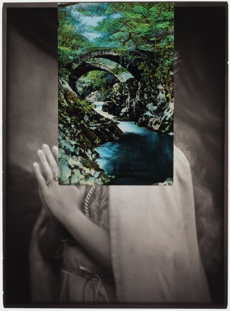 JOHN STEZAKER (b. 1949), Prayer I, 2015. Collage, 9 1/8 x 6 3/4 inches (23.2 x 17.1 cm). Courtesy of Richard Gray Gallery, Photo: Michael Tropea.
