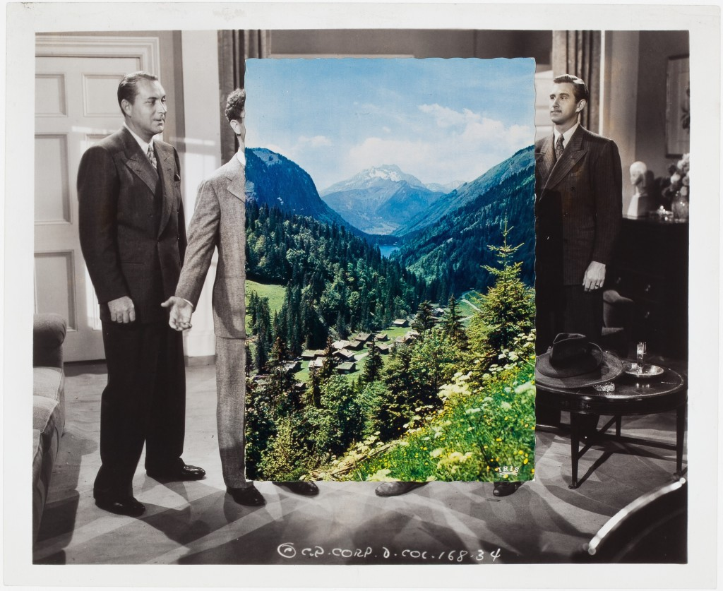 JOHN STEZAKER (b. 1949), Valley I, 2014. Collage, 8 1/4 x 10 inches (21 x 25.4 cm). Courtesy of Richard Gray Gallery, Photo: Michael Tropea.