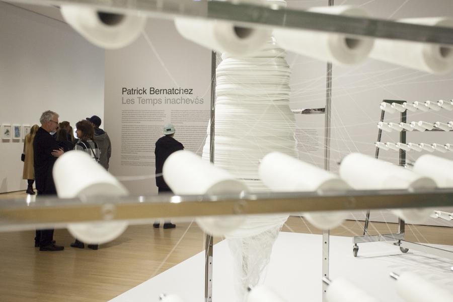 View of the exhibition Patrick Bernatchez: Les Temps inachevés. Presented at the Musée d'art contemporain de Montréal from October 17, 2015 to January 10, 2016. Photo: Sébastien Roy
