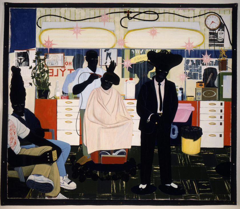 Kerry James Marshall, De Style., 1993. Los Angeles County Museum of Art, Los Angeles, purchased with funds provided by Ruth and Jacob Bloom. Digital image © 2015 Museum Associates/LACMA. Licensed by Art Resource, New York.