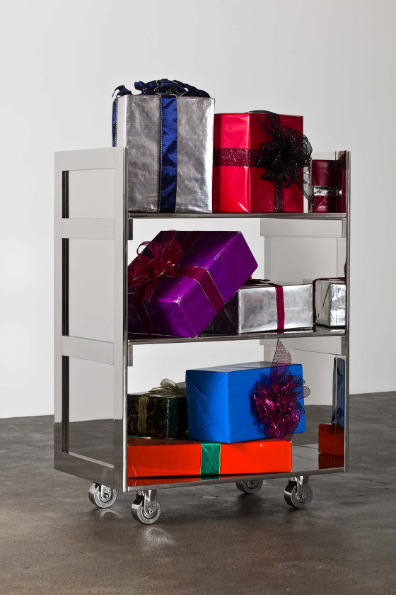 Kathryn Andrews, Gift Cart, 2011. Courtesy of David Kordansky Gallery, Los Angeles. Photo: Fredrik Nilsen.