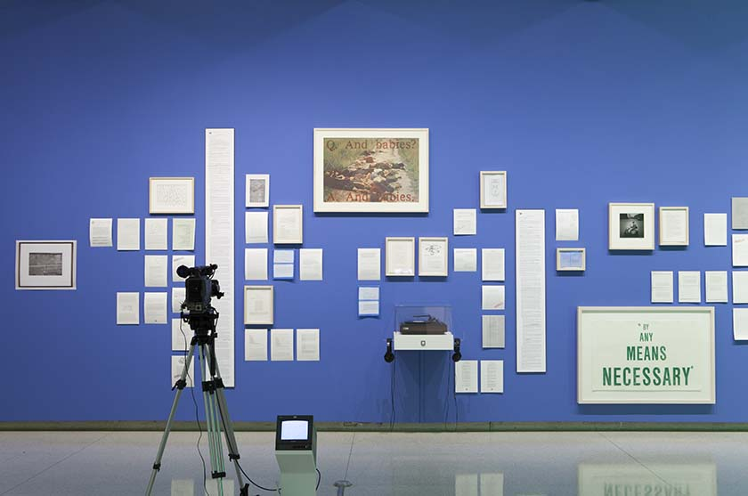John Akomfrah, Imaginary Possessions. Installation view at the Eli and Edythe Broad Art Museum at Michigan State University, 2013. Photo courtesy: Eat Pomegranate Photography