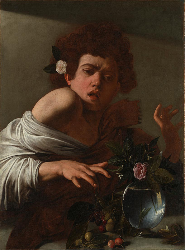 Boy bitten by a Lizard, about 1594–5, Michelangelo Merisi da Caravaggio. Oil on canvas. Painting, 66 x 49.5 cm. Courtesy of the National Gallery