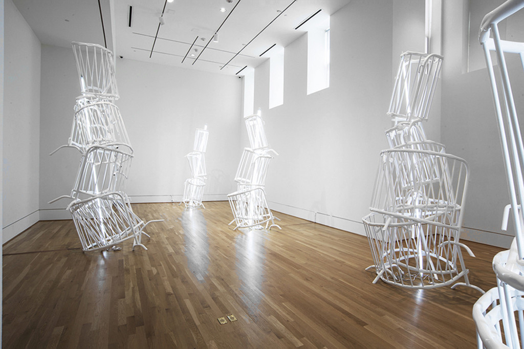 Installation view Bettina Pousttchi: Double Monuments. The Phillips Collection, Washington DC, 2016. Courtesy the artist and Buchmann Galerie.
