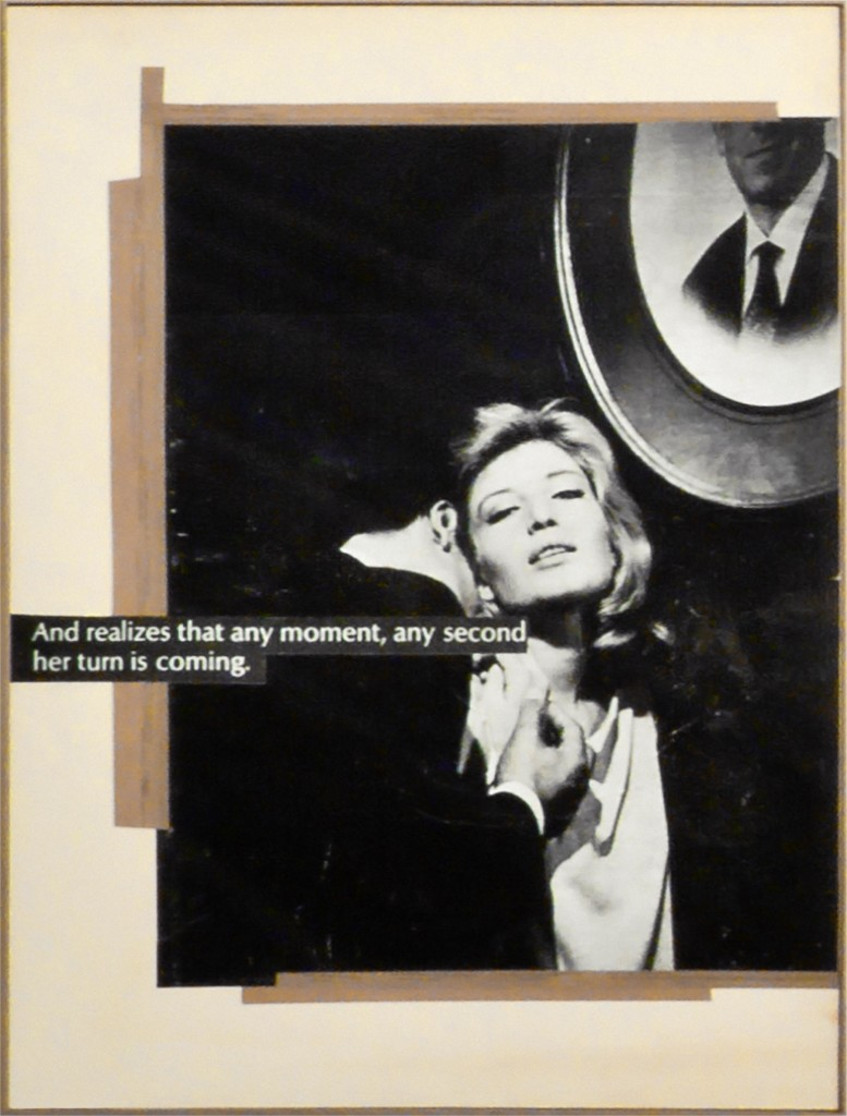 Astrid Klein, And realizes that any moment, any second her turn is coming, 1980. Collage. 46 7/8 x 34 5/8 inches. © Astrid Klein. Courtesy Sprüth Magers.