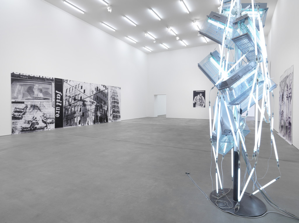 Installation view, Astrid Klein, La Societe du Spéctacle, Sprüth Magers, Berlin, 2013. © Astrid Klein. Courtesy Sprüth Magers.