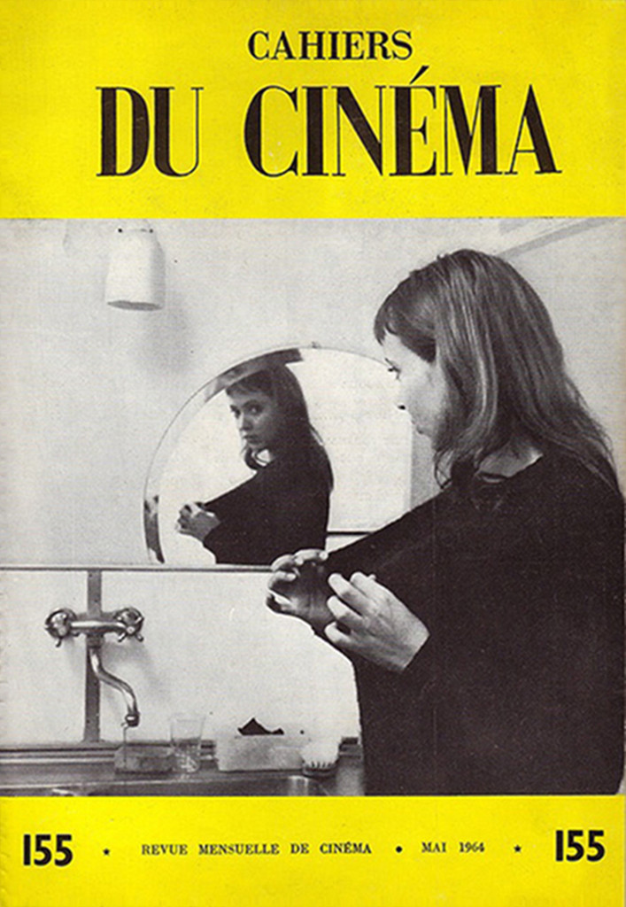 Cover featuring Anna Karina, Cahiers du Cinéma (1964).
