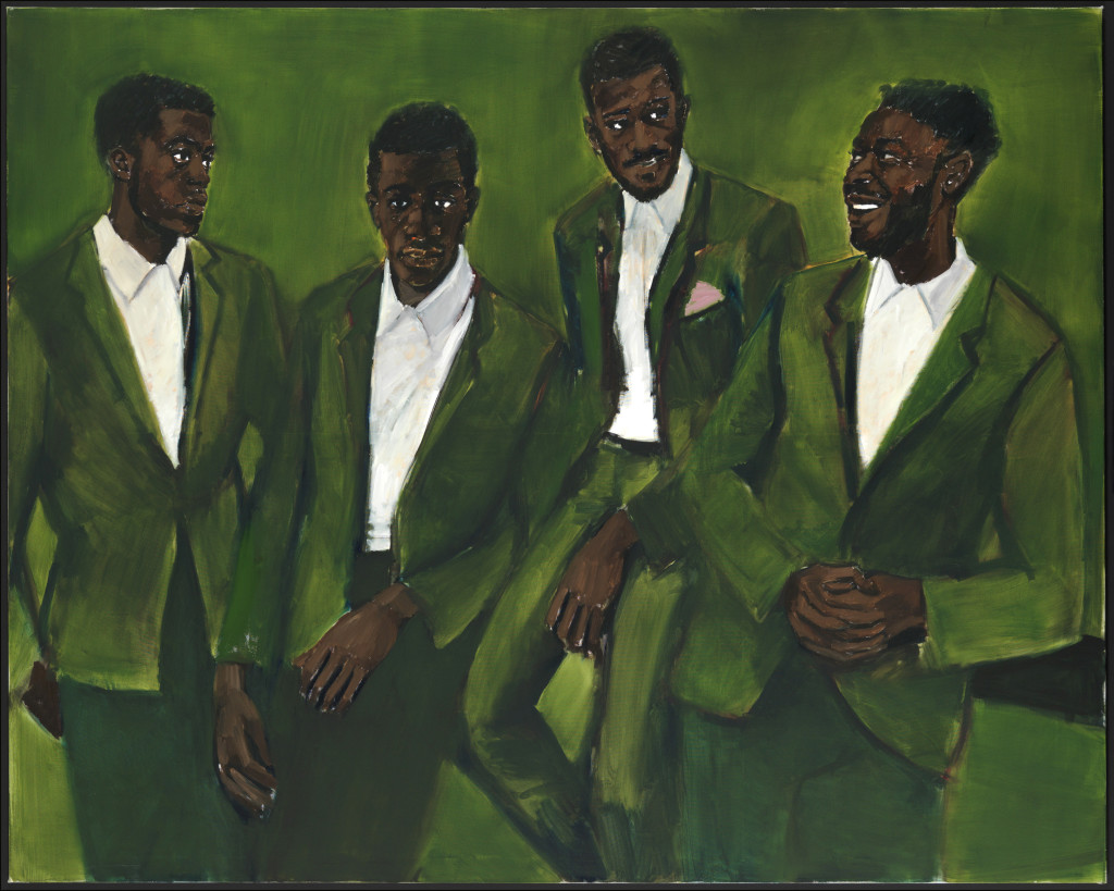 Lynette Yiadom-Boakye, A Culmination, on view in A Passion To A Principle at the Kunsthalle Basel, 2016. Courtesy the artist; Corvi-Mora, London, and Jack Shainman Gallery, New York.