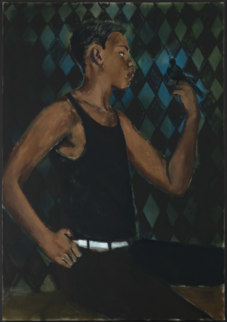 Lynette Yiadom-Boakye, Lute Music to a Heathen, on view in A Passion To A Principle at the Kunsthalle Basel, 2016. Courtesy the artist; Corvi-Mora, London, and Jack Shainman Gallery, New York.