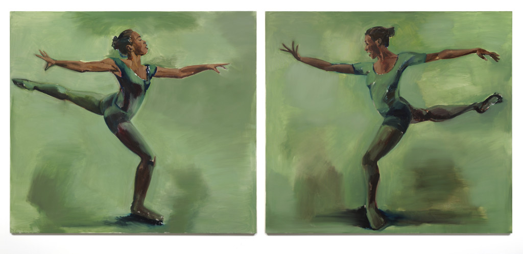 Lynette Yiadom-Boakye, Harp Strum, on view in A Passion To A Principle at the Kunsthalle Basel, 2016. Courtesy the artist; Corvi-Mora, London, and Jack Shainman Gallery, New York.