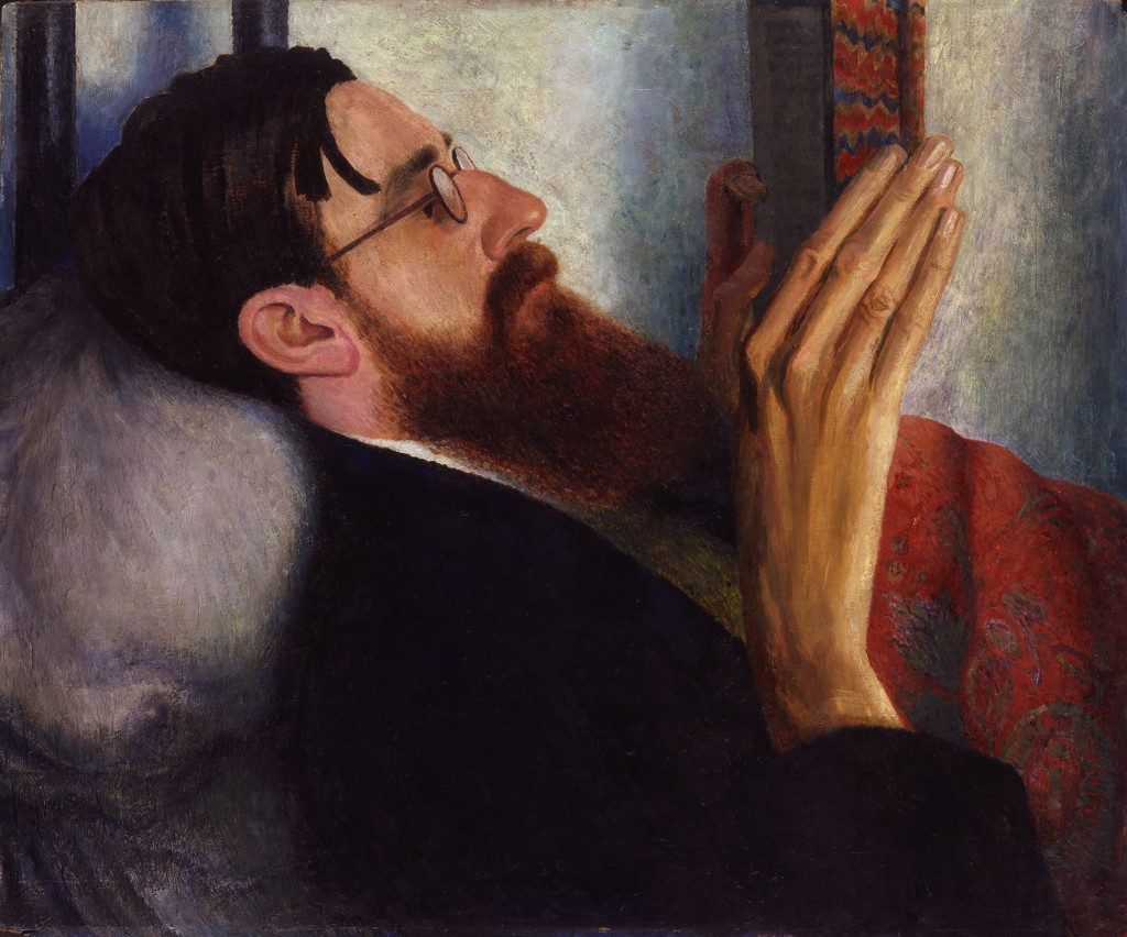 Dora Carrington (1893-1932) Lytton Strachey 1916 Oil on panel 508 x 609 mm National Portrait Gallery, London © National Portrait Gallery, London