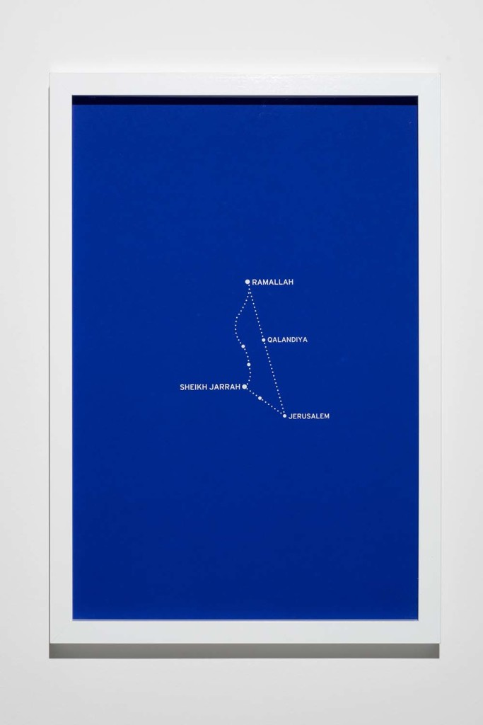 Bouchra Khalili, The Constellations, Fig.3, 2011. Silkcreen print on paper. Courtesy of the artist.