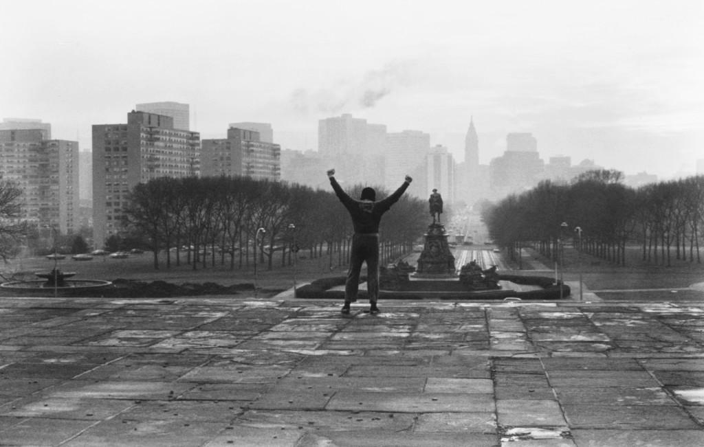 Sylvester Stallone, ROCKY, 1976, film still.
