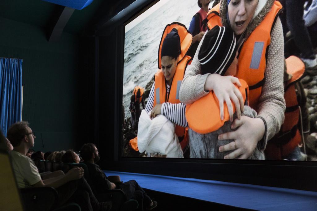 Manthia Diawara, An Opera of the World, 2017. Digital video, screening at BALi-Kinos, Kassel, documenta 14. Photo: Fred Dott.
