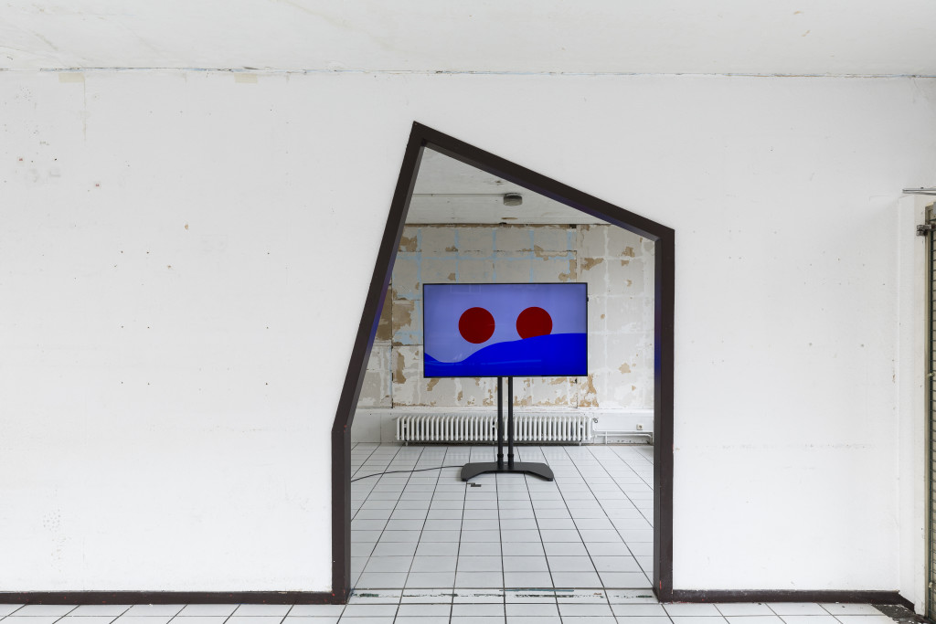 Angelo Plessas, Installation view, Glass Pavilions on Kurt-Schumacher-Strasse, Kassel, documenta 14, Copyright Fred Dott.