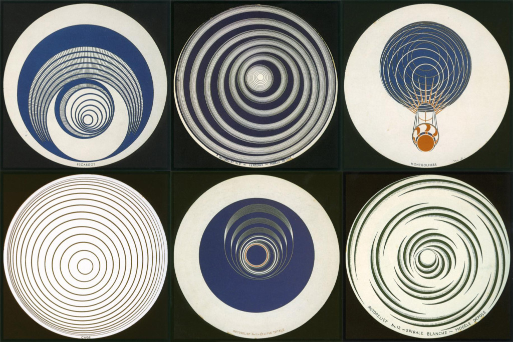 Marcel Duchamp, Rotoreliefs, 1935. © Artists Rights Society (ARS), New York / ADAGP, Paris / Estate of Marcel Duchamp.