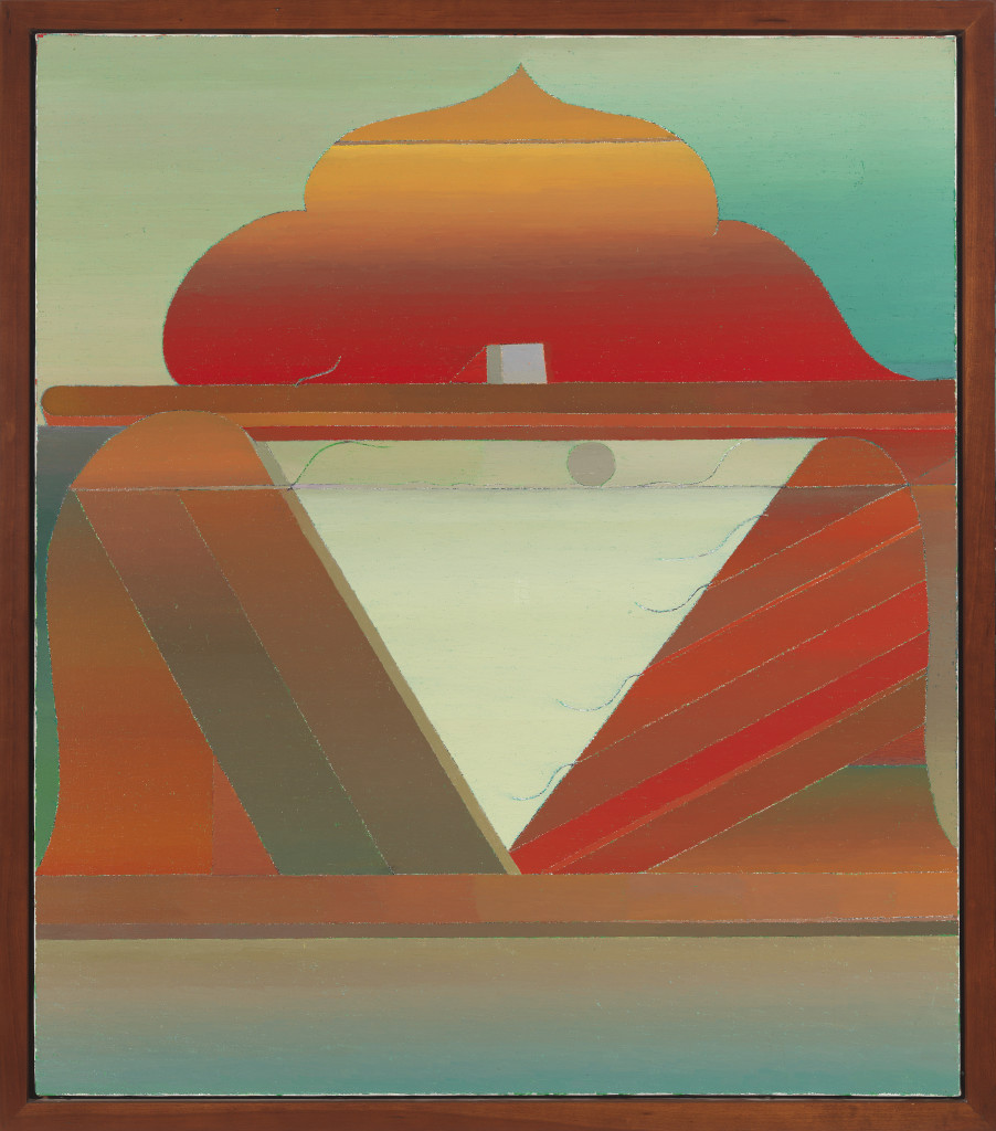 Miyoko Ito: Island in the Sun, 1978; oil on canvas; 38 x 33 in.; courtesy of John B. Pittman; © The Estate of Miyoko Ito. Photo: Tom Van Eynde.