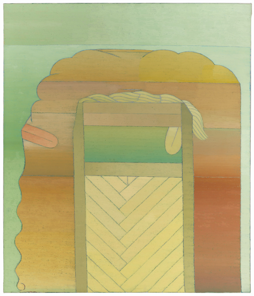 Miyoko Ito: Oracle, 1967-1968; oil on canvas; 47.375 x 37.75 in.;  courtesy of Jim Nutt & Gladys Nilsson; © The Estate of Miyoko Ito. Photo:  Tom Van Eynde.