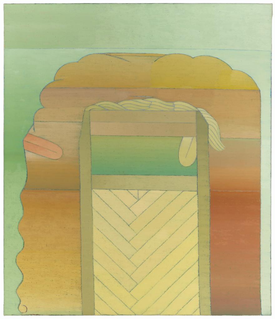 Miyoko Ito: Oracle, 1967-1968; oil on canvas; 47.375 x 37.75 in.;  courtesy of Jim Nutt & Gladys Nilsson; © The Estate of Miyoko Ito. Photo:  Tom Van Eynde.