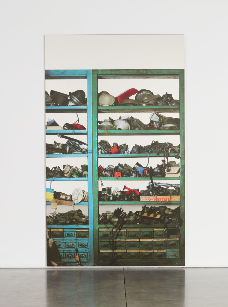 Michelangelo Pistoletto, Scaffali – attrezzature elettriche, 2015 © Michelangelo Pistoletto; Courtesy of the artist, Luhring Augustine, New York, Galleria Christian Stein, Milan, and Simon Lee Gallery, London / Hong Kong.