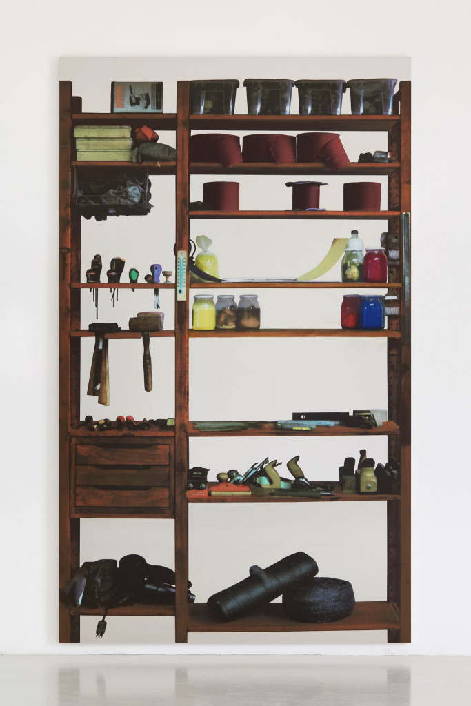 Michelangelo Pistoletto, Scaffali – attrezzi da falegname, 2015 © Michelangelo Pistoletto; Courtesy of the artist, Luhring Augustine, New York, Galleria Christian Stein, Milan, and Simon Lee Gallery, London / Hong Kong.