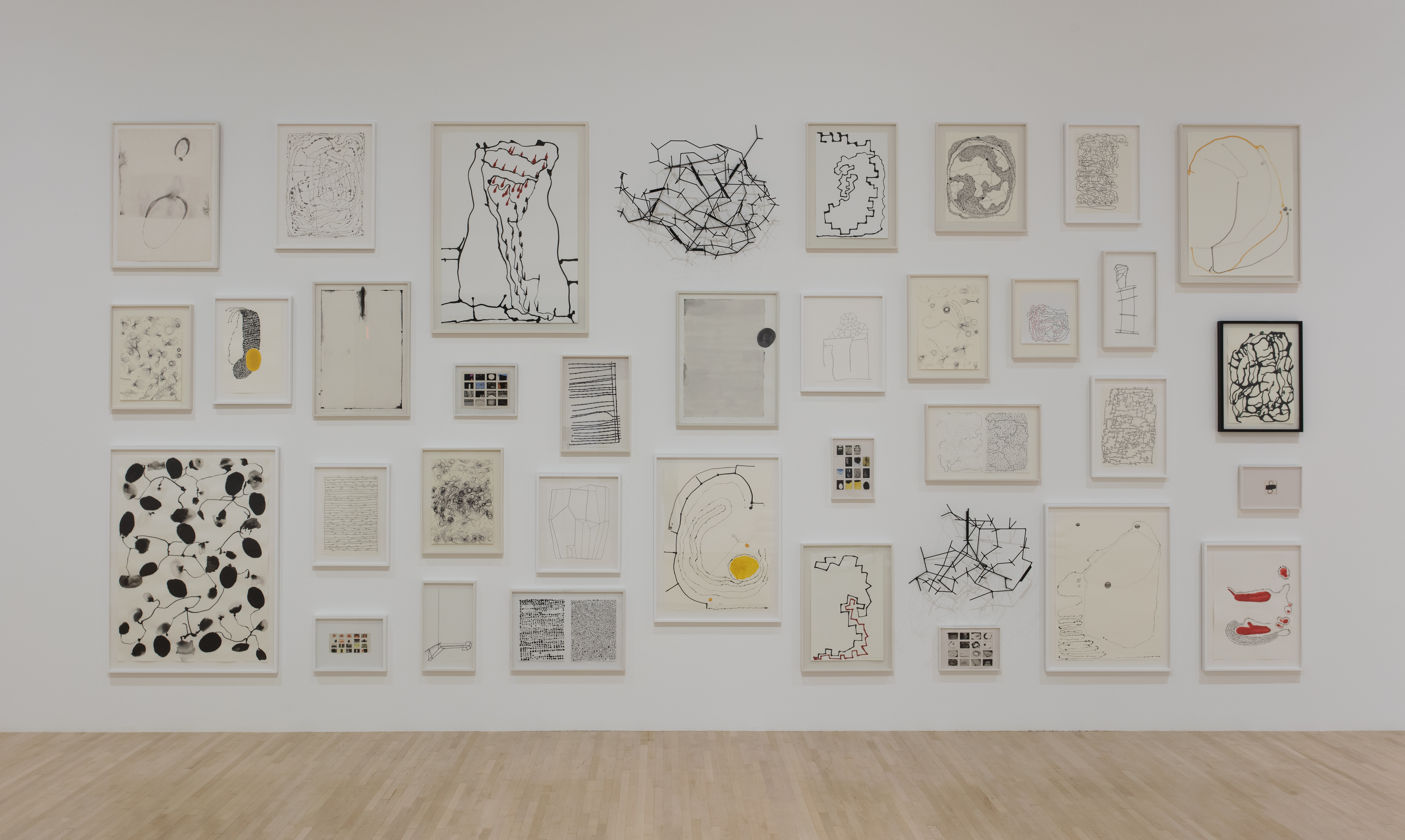 Installation view of Anna Maria Maiolino, August 4– December 31, 2017 at MOCA Grand Avenue, courtesy of The Museum of Contemporary Art, Los Angeles, photo by Brian Forrest.