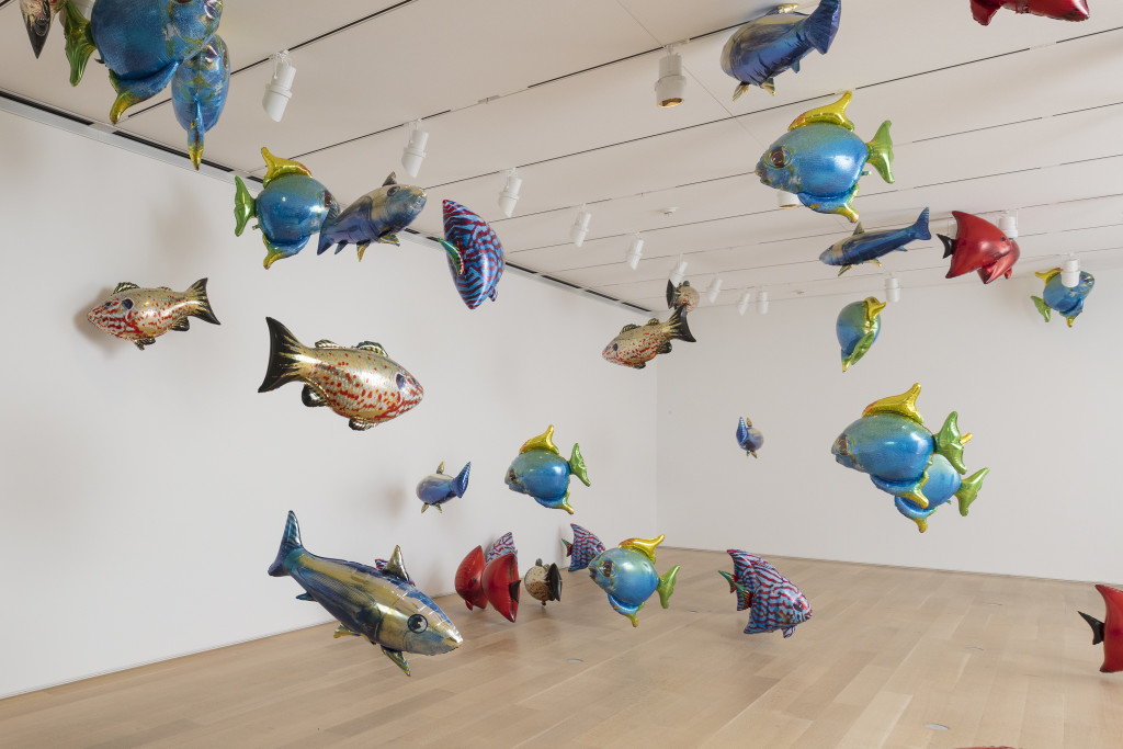 "Philippe Parreno. Two Automatons for One Duet (""My Room Is Another Fish Bowl,"" 1996–2016, and ""With a Rhythmic Instinction to Be Able to Travel beyond Existing Forces of Life,"" 2014). 2018. Courtesy of the Art Institute of Chicago."